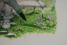 How to Color Foliage - another wonderful Copic marker tutorial by Colleen Schaan.