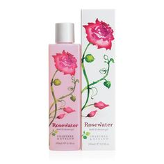 Rosewater Bath & Shower Gel - Rosewater, peony, magnolia and elderflower extracts help condition the skin while the gently cleansing gel creates a smooth lather in the shower, brilliant bubbles in the tub and a splash of luxury in your daily routine.