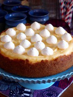 Bakad cheesecake toppad med lemon curd