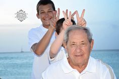 Bunny ears for grandpa, in the moment