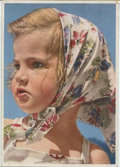 1952...a rich portrait...from Soviet Postcards tumblr