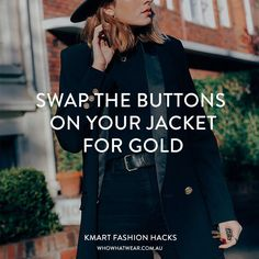 The Kmart Fashion Hacks That Will Have You Running to the Closest Store Diy Fashion, Fashion Hacks, Fashion Tips, Gold Diy, Who What Wear, Cool Outfits, The Incredibles, Hacks Diy, Running