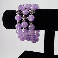 Lavender Amethyst Bracelet / Amethyst/ by angelovajewelry on Etsy