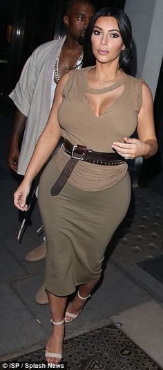 On Friday Kim chose another revealing look as she left her London hotel amid rumours she'll head to Glastonbury today ahead of husband Kanye West's headline slot on Saturday night.