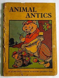 Antique-Animal-Antics-Children-Book