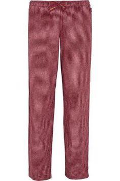 Plaid cotton-flannel pajama pants #plaidpants #flannel #offduty #covetme #calvinkleinunderwear