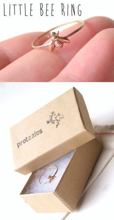 """Little Bee Ring to remind my girls of all the """"bees"""" the need to be."""