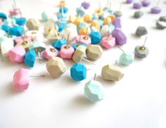 Geometric Stud Earrings, Pastel Polymer Clay Earrings, Sugarfree Candy - Your choice Mix or Match, Rare Diamonds Collection by AlinaandT on Etsy https://www.etsy.com/listing/106426255/geometric-stud-earrings-pastel-polymer