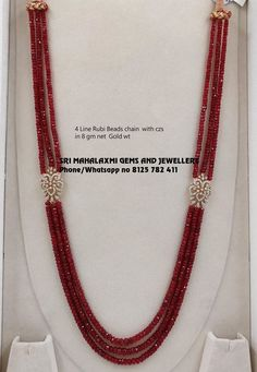 Rubi jewelry Emerald and ruby beads long necklace designs with CZ pendants photo Sit Back and Relax Pearl Necklace Designs, Gold Earrings Designs, Beaded Jewelry Designs, Gold Jewellery Design, Bead Jewellery, Beaded Necklace, Jewlery, Jewelry Armoire, Tanishq Jewellery