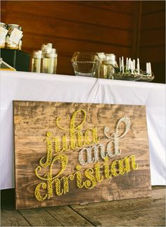 any way to make this happen?? just smaller, ha! amazing!  string art wedding sign
