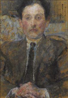 """pintoras: """" Olga Boznańska (Polish, 1865 - 1940): Etienne Collignon (via…"""
