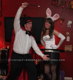 Cutest Magician and Rabbit in a Top Hat Couples Costume… Coolest Halloween Costume Contest