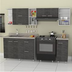 The kitchen is one area in the house that should give priority to the function. Whether it is various devices which should be convenient for cooking and the hero's kitchen is the kitchen counter which are often designed Home Interior, Kitchen Interior, Interior Design Living Room, Kitchen Decor, Kitchen Cupboard Designs, Modern Kitchen Cabinets, Mini Kitchen, Kitchen Sets, Compact Kitchen