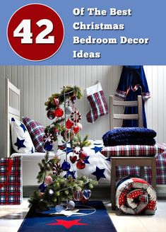 42  Of The Best Christmas Bedroom Decor Ideas - Luxury of the Pharaohs