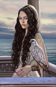 f Wizard Robes Falcon portrait female Tower female coastal Lake hills conifer forest farmland Castle lg Fantasy Portraits, Character Portraits, Fantasy Artwork, Book Characters, Fantasy Characters, Female Characters, Fantasy Women, Fantasy Girl, Fantasy Inspiration