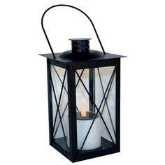Solar Table Lantern - Black at Homebase -- Be inspired and make your house a home. Buy now.