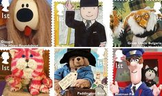 What will you see at #worldstampshowny2016?  #collect #familyfun Britain's best-loved children's TV characters honoured with stamps