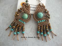 Earthtones and turquoise... Made In Kansas By Rosi... on Facebook.