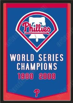 Dynasty Banner Of Philadelphia Phillies-Framed Awesome & Beautiful-Must For A Championship Team Fan! Most MLB Team Dynasty Banners Available-Plz Go Through Description