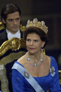 The Cameo Tiara of Sweden, originally a gift from Napoleon to the Empress Josephine. The tiara gets a lot of outings in Swedish royal weddings, most recently at the wedding of Crown Princess Victoria in 2010.