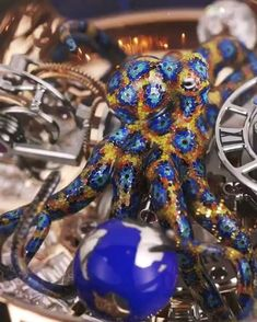 """steampunktendencies: """" Astronomia Tourbillon Clarity Octopus by Jacob & Co. Fancy Watches, Expensive Watches, Luxury Watches For Men, Cool Watches, Rolex Watches, Patek Philippe, Moda Steampunk, Steampunk Fashion, Richard Mille"""