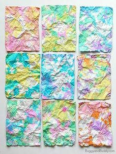 Turn crumpled pieces of paper into colorful artwork in this fun paper art for kids inspired by the children's book, Ish by Peter H. Reynolds!