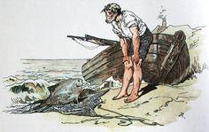 """The Fisherman and His Wife"" illustration by Alexander Zick Alexander Zick (1845 - 1907) war ein deutscher Illustrator."