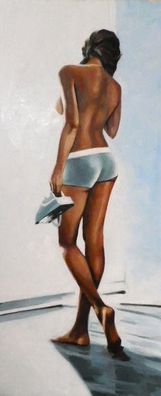"Thomas Saliot; Oil, 2013, Painting ""Blue phone"""