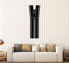 Vinyl Wall Decal Zipper Room Art Home Decor Stickers Mural (490ig)