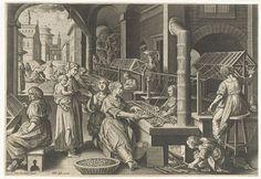 Karel van Mallery - Operaie in un setificio del 1600 - Rijksmuseum Amsterdam