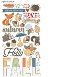 love me some chipboard! #simplestories and #HelloFall