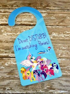Hey, I found this really awesome Etsy listing at https://www.etsy.com/listing/175369934/my-little-pony-kids-room-door-hanger