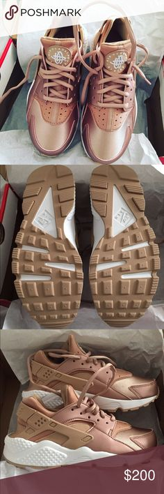Nike Rose gold Huarache . Limited edition Brand new never worn Nike limited edition rose gold huaraches .. sorry no trades size 7 in Womens Nike Shoes Sneakers