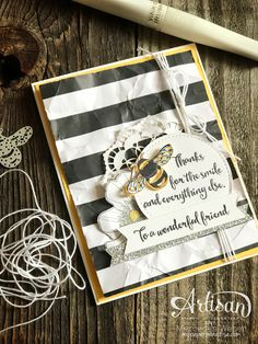 Mercedes Weber @ My Paper Paradise: Stampin' Up! Artisan Blog Hop- Its The Bee's Knees...