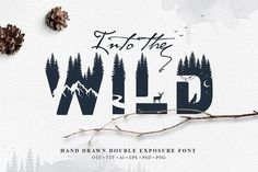 Ad: Into The Wild - Double Exposure Font by Cosmic Store on Introducing my first Color Font! Wild modern font with double exposure effect that will look awesome in yours design project. Each letter is Cool Fonts, New Fonts, Batik Shirt, Double Exposure Effect, Photography Beach, Color Photography, Modern Fonts, Sans Serif, Creative Logo