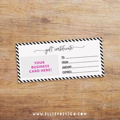 make your own gift cards for small business
