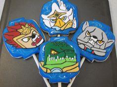 Chima Lego Character Cookies