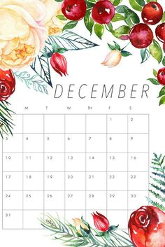 We are thrilled today to roll out another Free Printable 2019 Calendar! Today we have a Free Printable 2019 Floral Calendar that we hope you love! December Calander, December Calendar 2019, Calander Printable, Calendar 2019 Printable, Monthly Calendars, Wall Calendars, Free Calendar, Planner 2018, College Planner