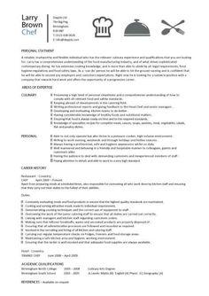 Resume Design for a Chef – Alveria Cher Finally, a resume for me ...