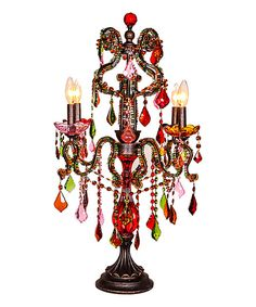 Look at this Crystal Carnival Candelabrum Table Lamp on #zulily today!