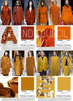 Tendencias : Trend Council is excited to present the Key Fashion Color Report. The color professionals at TREND COUNCIL have synthesized the international runways to predict key color expressions to make accurate color choices for your future design Trend Council, Fall Fashion Trends, Fashion 2017, Autumn Fashion, Fashion Women, High Fashion, Fashion Top, Fashion Styles, Style Fashion