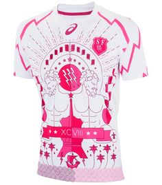 New Stade Francais Asics Jersey Stade Rugby Shirts Home Away Third Rugby Kit, Laurel And Hardy, France, Paris, Sport Wear, Home And Away, Cool Suits, Cute Guys, Third
