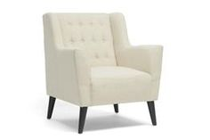 Baxton Studio Berwick Beige Linen Arm Chair Chicago furniture, Chicago furniture stores, furniture in Chicago, Berwick Beige Linen Arm Chair,  Living Room Furniture, Chicago