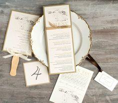 Farm To Table Wedding Menu Table Numbers Favor Tag di BeaconLane