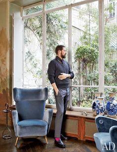 Stefano Pilati's Paris Duplex Apartment Renovation : Architectural Digest. Perfection!