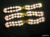 $4.99 Lot Of 3 Bead Watch Straps Beautiful Design Free Shipping