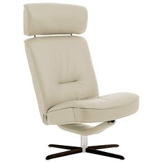 Buy Fjords motionconcept Bordini High Leather Recliner Chair with Espresso Base Online at johnlewis.com