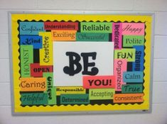 welcome back to middle school bulletin board ideas - Yahoo Image Search Results School Welcome Bulletin Boards, Office Bulletin Boards, Science Bulletin Boards, Spring Bulletin Boards, Middle School Classroom, Classroom Bulletin Boards, Ib Classroom, Classroom Ideas, School Hall