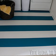 Paint your unsightly vinyl or laminate floors. | 31 Home Decor Hacks That Are Borderline Genius