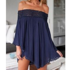 Off The Shoulder Loose Dress This Flowy beautiful dress can also be worn with your favorite jeans or a cute pair of summer cutoff shorts. You can't go wrong with this dress! Brand new! Slim Fast, Romper Dress, Online Fashion Stores, Slimming World, Club Dresses, Affordable Fashion, Off The Shoulder, Beautiful Dresses, Rompers